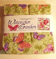 5 Pre Cut Charm Squares Watercolor Garden by GabbysQuiltSupplies, $11.50