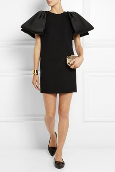 Giambattista Valli | Bow-embellished textured-wool mini dress | NET-A-PORTER.COM