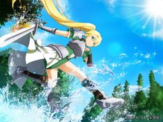 Leafa Sao, Kirito, Sword Art Online Alo, Sao Game, Sao Characters, Rwby Anime, Anime Manga, Animation Sketches, Anime Warrior