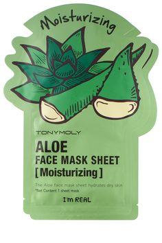 Tony Moly I'm Real Moisturizing Aloe Face Mask Sheet, $4, urbanoutfitters.com.   - HarpersBAZAAR.com