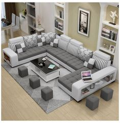 Design Of Living Room Furniture – Sofa Design 2020 Living Room Sofa Design, Living Room Interior, Home Living Room, Living Room Designs, Living Room Decor, Corner Sofa Living Room, Kitchen Living, Sofa Set Designs, Modern Sofa Designs