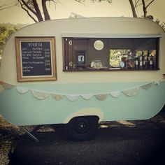 My Sweet Alice! Gorgeous vintage caravan cafe. Perfect for weddings, garden parties.