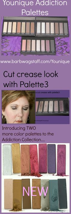 Younique palettes are growing! Check out the new palettes 4 and 5. New palettes coming soon! Www.youniqueproducts.com/AmberDorsey