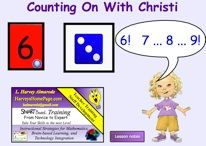 Here's a SMARTBoard activity where students practice counting on from a number.