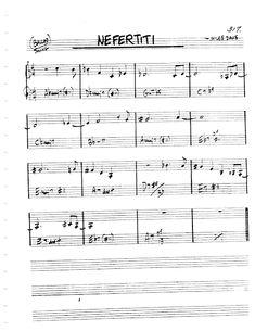 [Jazz Real Book I : Page Nefertiti (Wayne Shorter) - Jazz Standard Sheet Music Wayne Shorter, Jazz Songs, Jazz Standard, Sheet Music, Guitar, Rock, Skirt, Locks, The Rock