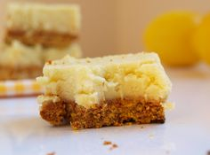 vegan lemon squares