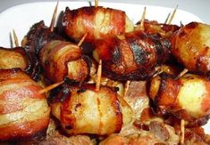 Batata com bacon assada