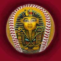 King TuT  www.unforgettaballs.com Art Pics, Art Pictures, Baseball Art, Porsche Logo, Decorative Plates, King, Logos, Art Images, Logo