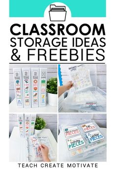 Storage hacks and ideas for classroom materials and activities! Organize your materials in your classroom so you stay sane all year long! Classroom Setup, Classroom Design, Future Classroom, Classroom Organization, Classroom Management, Organization Ideas, Classroom Tools, Classroom Resources, Free Teaching Resources