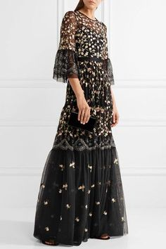 Needle & Thread | Climbing Blossom embellished embroidered tulle gown | NET-A-PORTER.COM