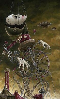Surrealism and Visionary art: Anthony Clarkson Dark Fantasy Art, Fantasy Kunst, Arte Horror, Horror Art, Art And Illustration, Portrait Illustration, Art Illustrations, Fashion Illustrations, Arte Inspo