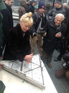 Kari Clark Installed The Crystal That Bears Her Husband Dick Clarks Name Times Square  C B New Years Eve