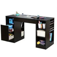 Original Scrapbox Ez View Black Craft Desk (Base 4, Base 3) By Scrapbox.  $695.00. Desk Measures 50 Inches Wide X 25 Inches Deep X 31 Inches High.