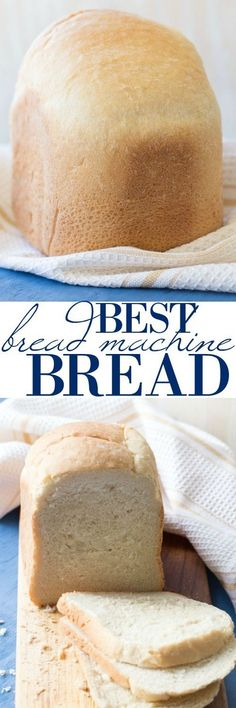 The best bread machine bread recipe.