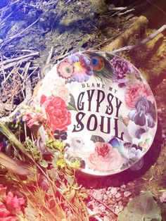 "Gypsy Soul Tambourine. ""Blame My Gypsy Soul"" tamborine. Musical Instrument or Boho Gypsy home decor. Ring in Good Vibes! Gypsy Festival Fun!"