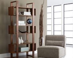 Warm, stylish bookshelf perfect for any home or office. The Jarvis Bookcase is part of our Zenn Collection.