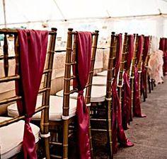 noeud de chaise pour décoration de mariage