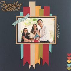 Family Page. Love this layout! Album by JoyFilled Custom Albums #joyfilledca #scrapbooking #familylayout #customscrapook