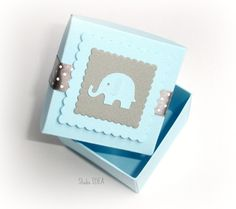 Candy Box Gift Box with Pink /& Grey Elephant or Choose Your Colors- Set of 6pcs 25pcs Favor Box 12pcs Elephant Gable Box