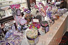 wedding reception candy bar