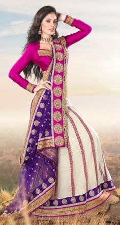 Multicolour Georgette & Net Saree