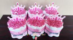 Princess themed mini diaper cakes princess by ExpressByThread