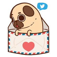 Puglie now has a Twitter accountto keep you immediately up to date on work in progress, sales and discounts, and farts!To everyone who signed up for the Puglie Pals Newsletter, this is the upgrade from emails, thank you so much for the support :'3