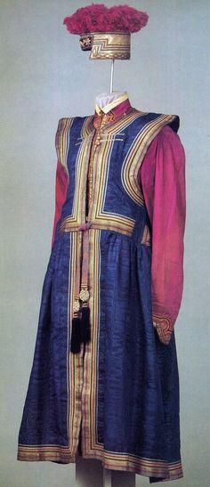 Mongolian Woman's Folk Costume