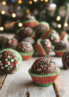 Chocolate Peanut Butter Cake Balls | Butterlust Blog