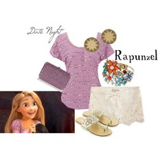 """Date Night: Rapunzel"" by disneydiva305 on Polyvore #disney"