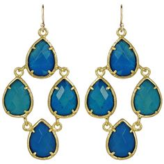 Kendra Scott Carlone Earrings in Blue Agate