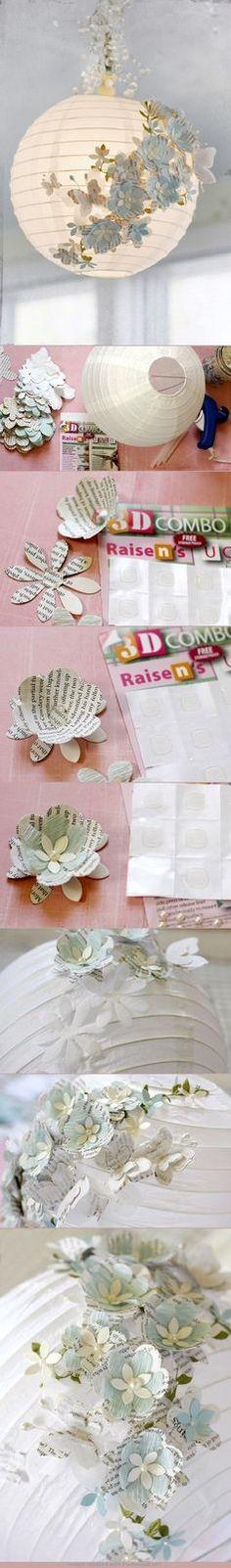 3D paper lanterns DIY