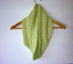 Lightweight cowl. Knitted cowl. Knitted Bamboo cowl. Knitted wool cowl. knit Circle scarf. Knit infinity scarf. Lime green cowl. Spring cowl by Thingswelike2knit on Etsy