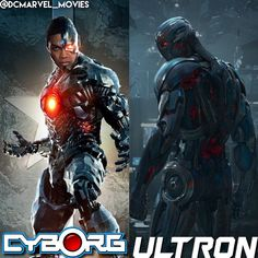 BATTLE OF THE DAY: Cyborg vs Ultron (DCEU and MCU versions) - Prep: None Morals: Off Time: Night  3 points for an explanation - This is a 1 on 1 fight between the characters in the picture Leave your vote in the comment section! @dcmarvel_movies