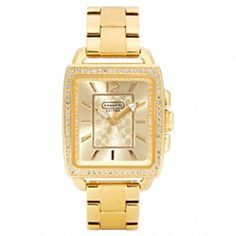 http://www.coach.com Boyfriend Crystal Square Gold Plated Bracelet