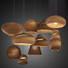 wooden pendants for cosy lightning