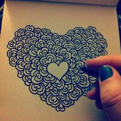 Doodling hearts! :) Could be done with any shape, like stars too!