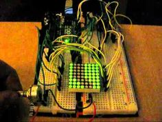 Using an Arduino Uno, 2 x 8 x resistors and LED matrix, a lot of wires and some code this is a simple driving game. Arduino, Coding, Led, Electronics, Games, Gaming, Toys, Game, Spelling