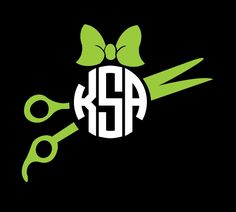 Scissor Monogram Vinyl Decal Custom Hair Stylist  Hair Dresser - Hair stylist custom vinyl decals for car