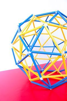 Learn how to make a geodesic dome (and sphere) out of straws and pipe cleaners | BABBLE DABBLE DO | STEM Activity for Kids | Engineering for kids