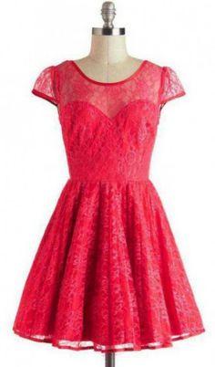 9cdf604fa248 Short Lace Homecoming Dress Customized, Cap Sleeves Short/Mini  #Appliques#Short Homecoming