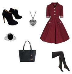 """Retro style"" by elizabethcarter2003 ❤ liked on Polyvore featuring Via Spiga, Michael Kors and Giuseppe Zanotti"