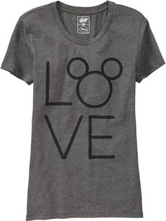 "Women's ""LOVE"" Disney&#169 Mickey Mouse Tees Product Image"