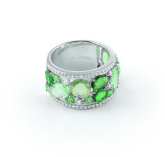 Al Coro # Candy Collection # 18ct whitegold # green Amethyst# Tsavorite