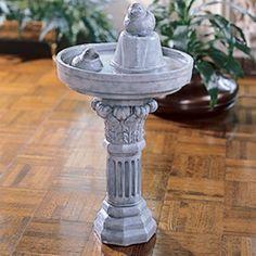Birdbath Nostalgia Fountain Craft ePattern