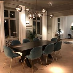 47 Trendy Dining Room Designs Ideas You Cant Miss Out - When considering dining room design in your home, you primarily have the décor and furniture to consider. These factors will largely be influenced by . Dining Room Lamps, Dining Room Design, Living Room Decor, Dining Table Lighting, Luxury Dining Room, Lamp Table, Dining Decor, Decor Room, Design Kitchen