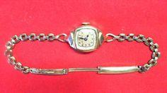 Working Swiss Bulova 12K Gold Filled Watch Watch Fits R9T3 #Bulova #Casual