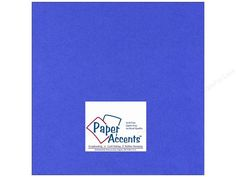 Paper Accents Cardstock is an archival quality heavy card stock that is great for cards, invitations, scrapbook pages, memory albums and more. Acid free, lignin free and buffered. 12 x 12 inch. 65 lb. Smooth texture. #111 Smooth Cobalt.