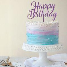 14th Birthday Cakes, White Birthday Cakes, Mermaid Birthday Cakes, Beautiful Birthday Cakes, Frozen Birthday, Pretty Cakes, Cute Cakes, Rafaelo Cake, Bts Cake