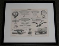 "balloons german 1894 lithograph 14 x 16"" $75"